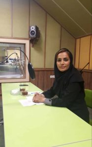 زهره احمدی در برنامه رادیویی